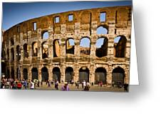 Coliseum Facade Greeting Card