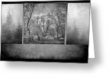Collage Misty Trees Greeting Card