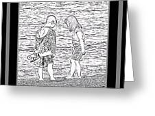 Collecting Seashells By The Seashore Greeting Card