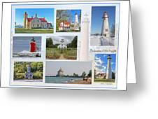 Collection Of Lighthouses Greeting Card