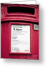 Collection Time 4.45 Pm Greeting Card