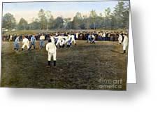 College Footbal Game, 1889 Greeting Card