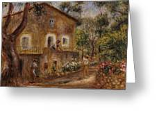 Collette's House At Cagne Greeting Card