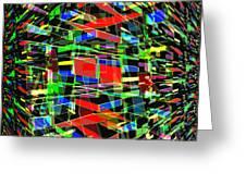 Colliding Dimensions Greeting Card