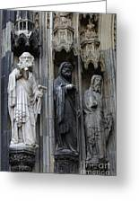 Cologne Cathedral Statues Greeting Card