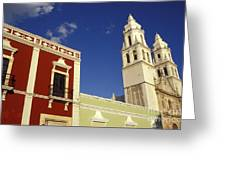 Colonial Colors Campeche Mexico Greeting Card