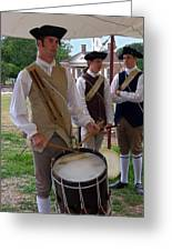Colonial Drummer Greeting Card