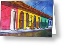 Colonial Homes Granada Nicaragua Greeting Card
