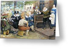 Colonial Smoking Protest Greeting Card