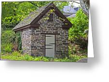 Colonial Stone Ice House Greeting Card