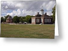 Colonial Williamsburg Scene Greeting Card