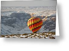 Color Above The Canyon Greeting Card