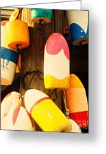 Color Blocks Greeting Card by Julia-Rose Liptak