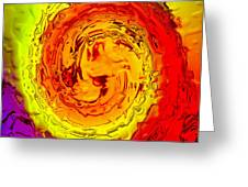 Color Eruption Greeting Card