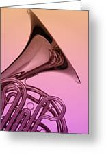 Color French Horn Greeting Card by M K  Miller