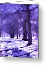 Color Infrared Winter Landscape Greeting Card