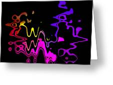 Color Melting Abstract Greeting Card