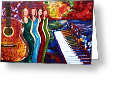 Color Of Music Greeting Card by Yelena Rubin