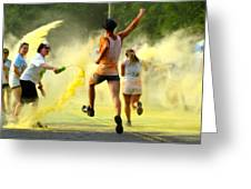 Color Run Happy Greeting Card