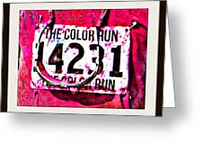 Color Run Number Greeting Card