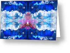 Color Sky Orchid Greeting Card