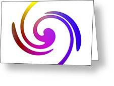 Color Spiral Greeting Card
