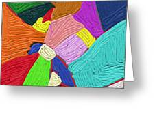 Color Tectures Greeting Card