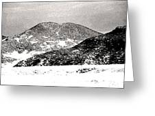 Colorado 2 In Black And White Greeting Card