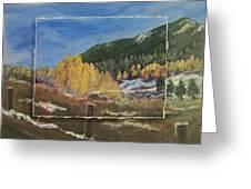 Colorado Almost Winter Greeting Card