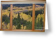 Colorado Autumn Picture Window Frame Art Photos Greeting Card