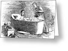 Colorado Bathhouse, 1879 Greeting Card