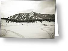 Colorado Boulder Flatirons  Greeting Card