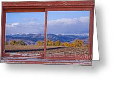 Colorado Country Red Rustic Picture Window Frame Photo Art Greeting Card