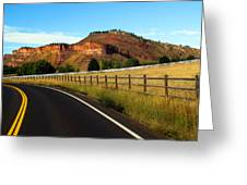 Colorado Curve Greeting Card by Ric Soulen