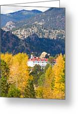 Colorado Estes Park Stanly Hotel Autumn View Greeting Card