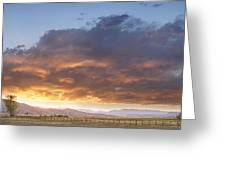 Colorado Evening Light Greeting Card