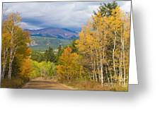 Colorado Rocky Mountain Autumn Scenic Drive Greeting Card