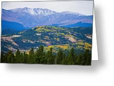 Colorado Rocky Mountain Autumn View Greeting Card