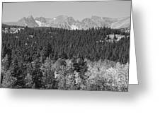 Colorado Rocky Mountain Continental Divide View Bw Greeting Card