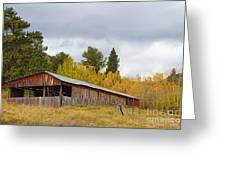 Colorado Rustic Autumn High Country Barn Greeting Card