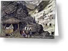 Colorado Silver Mines, 1874 Greeting Card