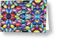 Colored Beans Design Greeting Card