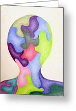 Colored Man Greeting Card by Linda Pope