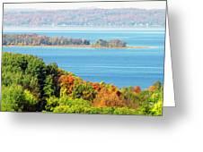 Colored Peninsula  Greeting Card