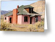 Colorful Abandoned Home In Dying Farm Town Greeting Card