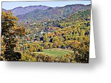 Colorful Autumn Valley Greeting Card