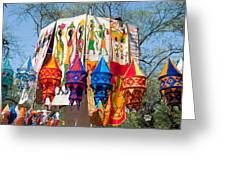 Colorful Banners At Surajkund Mela Greeting Card