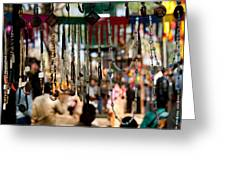 Colorful Beads At The Surajkund Mela Greeting Card