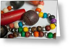 Colorful Beads In Chains Greeting Card
