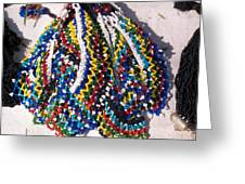 Colorful Beads Jewelery Greeting Card